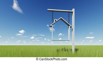 maison, ou, remt, signe vente