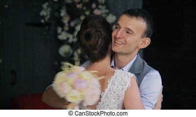 maison, palefrenier, mariée, mariage, réunion, jour, premier