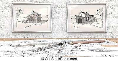maison, project., rêve