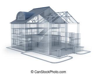 maison, projet architecture
