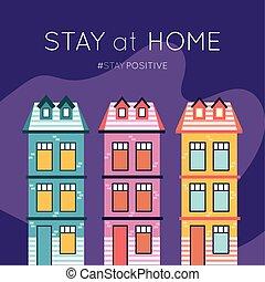 maison, séjour, covid19, message