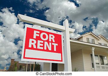 maison, signe, loyer, &