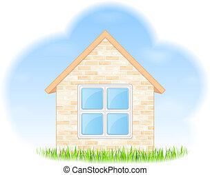 maison, sur, rêves