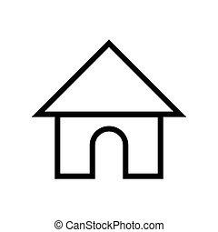 maison, symbole, maison