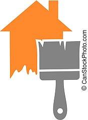 maison, symbole, peinture