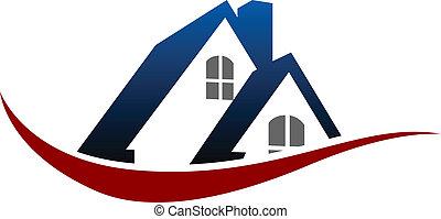 maison, symbole, toit