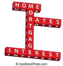 maison, taux, hypothèque, intérêt