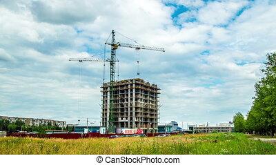 maison, taymlaps, construction