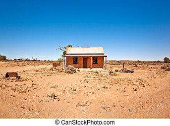 maison, vieux, désert
