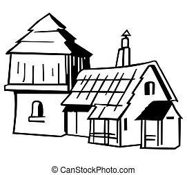 maison, village