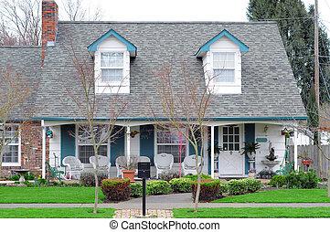 maison, voisinage, famille