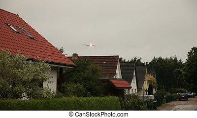 maisons, avion, voler plus
