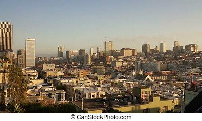 maisons, bâtiments, francisco, voisinage, san, sur, californie