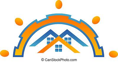 maisons, conception, logo