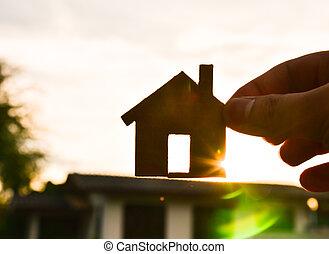 maisons, mon, construire
