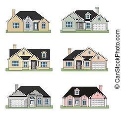 maisons, six, ranch