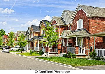 maisons, suburbain