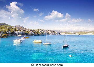 majorque, île, méditerranéen, cala, fornells, mallorca