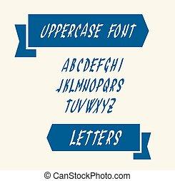 majuscule, anglaise, lettres, alphabet
