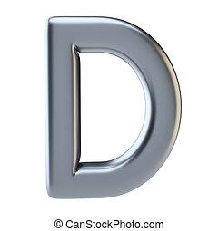 majuscule, métal, lettre