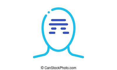 mal tête, tension, tête, serrage, bande, animation, icône