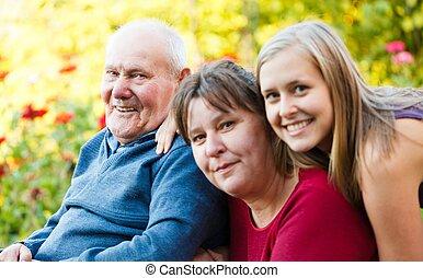 maladie alzheimer, grand-père