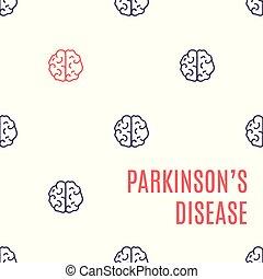 maladie cerveau, parkinson's, affiche