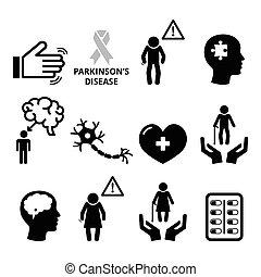maladie, healt, senior's, parkinson's