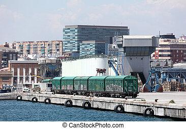 malaga, andalousie, vieux port, espagne