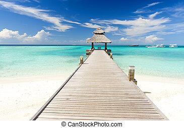 maldives, jetée