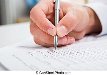male?s, document, écriture main