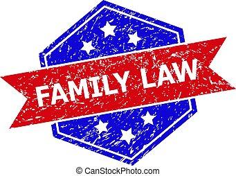 malpropre, bicolore, droit & loi, famille, cachet, hexagone, surface