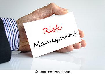 managment, concept, risque