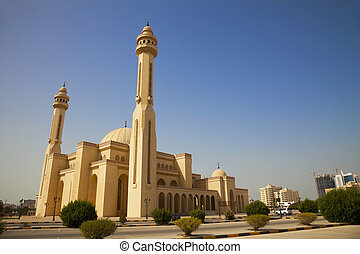 manama, al-fateh, mosquée, bahrain, grandiose