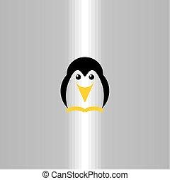 manchots, logo, symbole, vecteur, icône