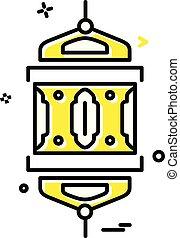 mandala, vecteur, conception, icône