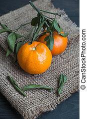 mandarin, odeur, chanvre, orange
