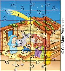 mangeoire, puzzle