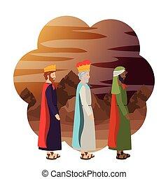 mangeoire, rois, sage, caractères