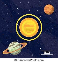manière, planètes, laiteux