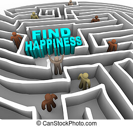 manière, trouver, bonheur, ton