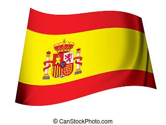 manteau, drapeau, bras, espagnol