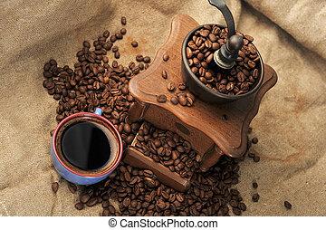 manuel, moulin café
