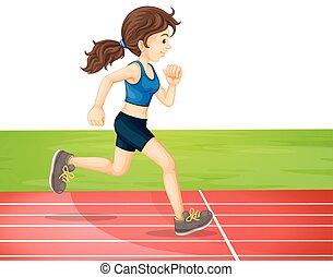 marathon, formation, jeune fille
