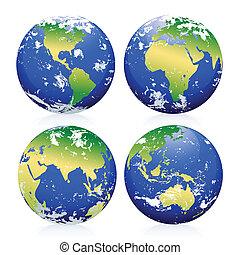 marbres, la terre, bleu