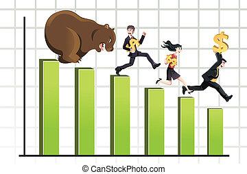 marché baisse