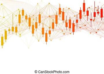 marché, diagramme, commerce, graph., financier, finance, arrière-plan., stockage, ou, vecteur, résumé, illustration, forex