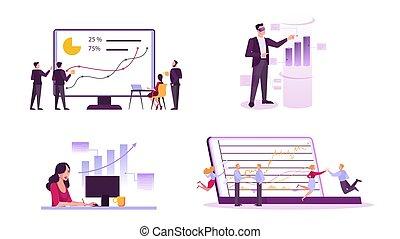 marché, set., investissement, idée, concept, stockage, finance