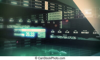 marché, tickers, seamless, boucle, stockage