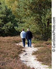 marche, aînés, gens, forest., age moyen